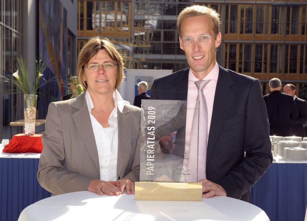 """Essen """"Recyclingpapierfreundlichste Stadt 2009"""""""