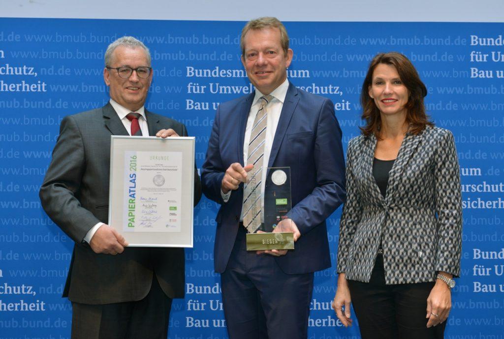 """Siegen """"Recyclingpapierfreundlichste Stadt"""" 2016"""