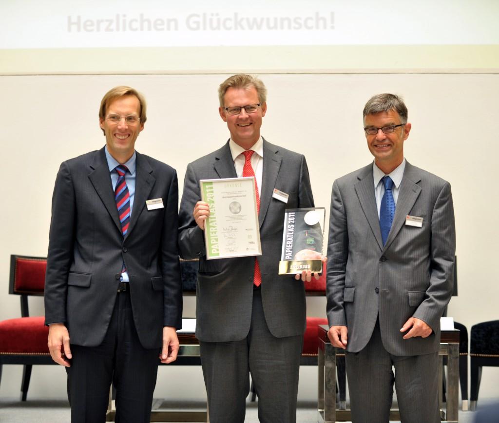 """Freiburg """"Recyclingpapierfreundlichste Stadt 2011"""""""